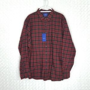 Apt.9 Long Sleeve Slim Fit Soft Touch Flannel